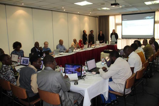 Photo of GEE training participants during session
