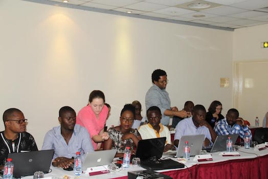SCO trainers assist participants with data processing