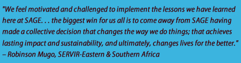 SAGE Quote from RCMRD's Robinson Mugo