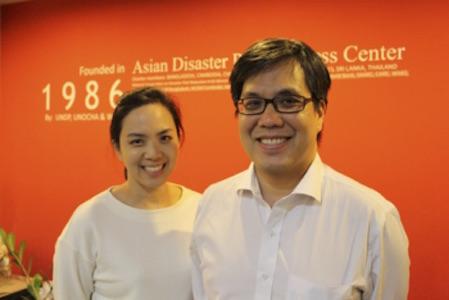 Ms. Nij Tontisirin and Mr. Sutee Anantsuksomsri of Chulalongkorn University