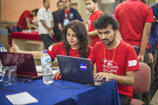 Team Virtual Space Exploration at Space Apps Kathmandu