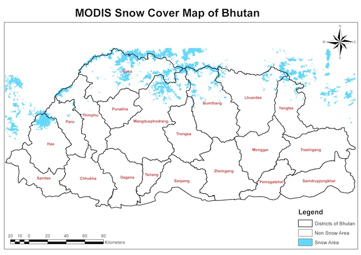 NASA MODIS Environmental Data from SERVIR Himalaya to help Bhutan Manage Hydr