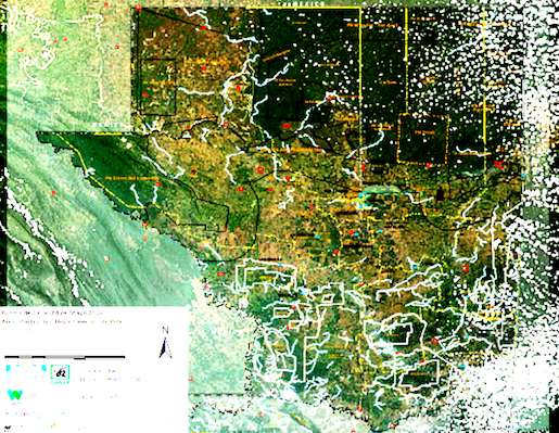 Peten hotspot map from CONAP