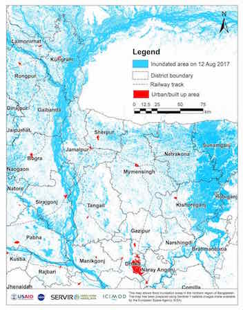 Himalaya inundation map