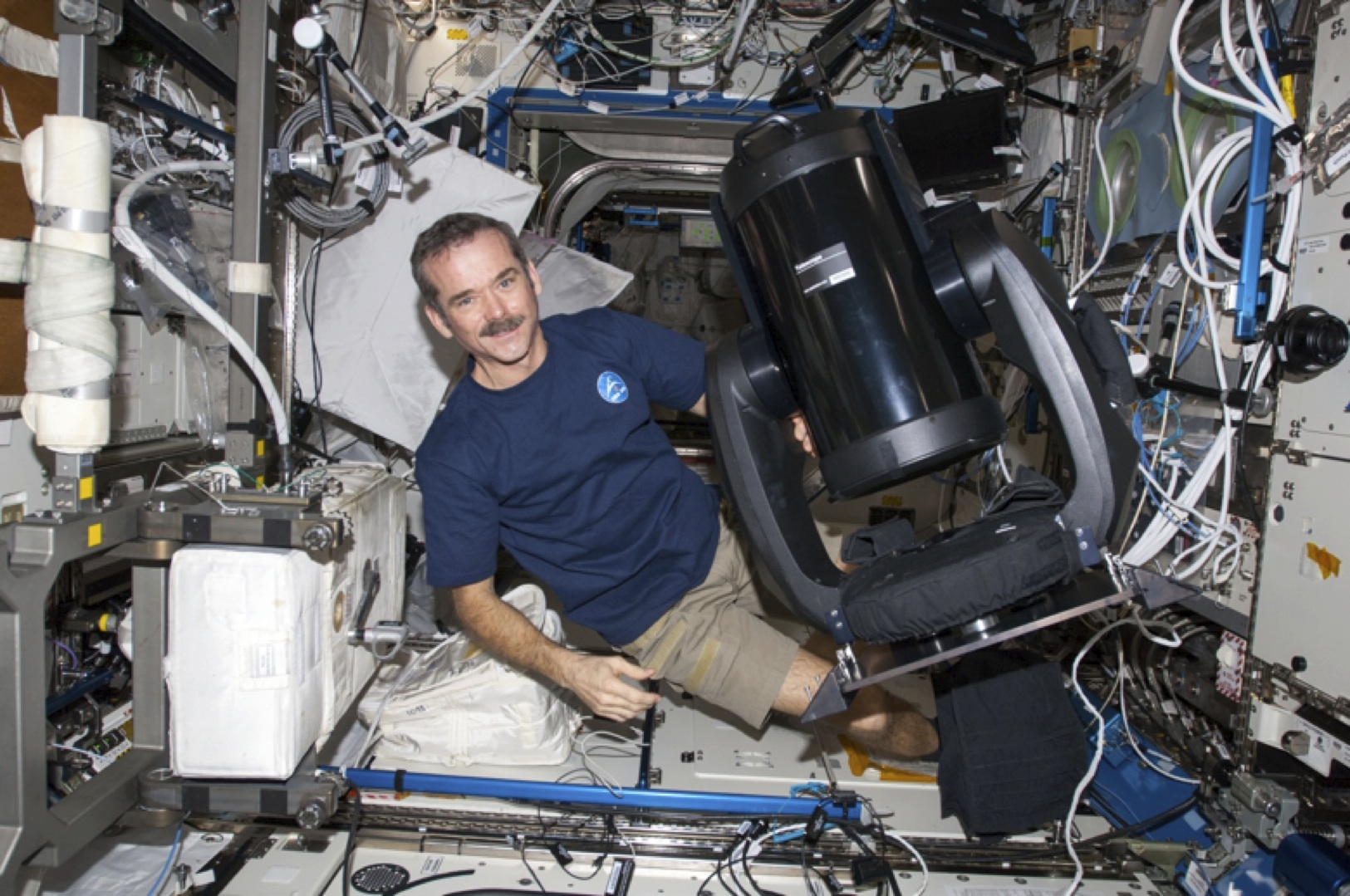 Colonel Chris Hadfield and ISERV camera