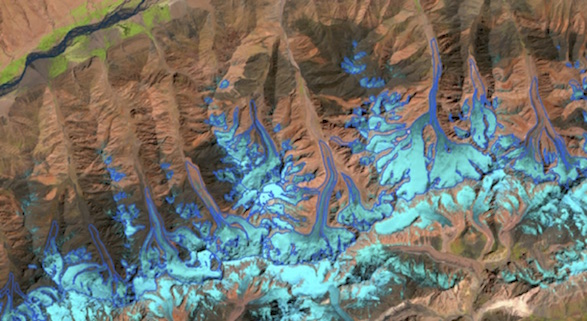 USGS Landsat8 image of Wakhan Valley