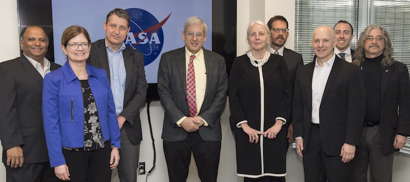 Group photo with members from NASA SERVIR, NASA HQ and ITC--credit NASA