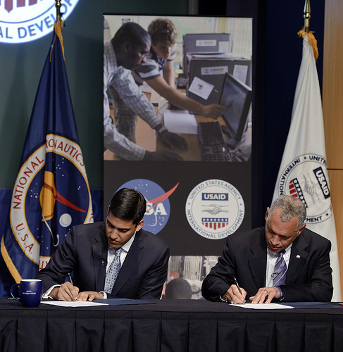 NASA-USAID MOU signing on April 25, 2011
