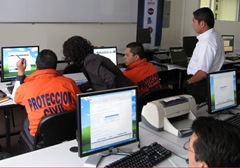 participants train with SERVIR application