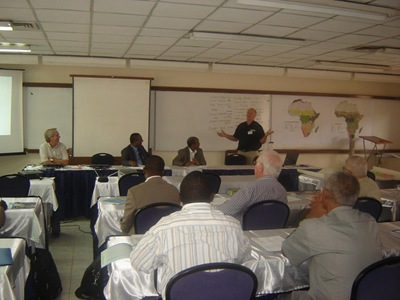 Speaker and participants at workshop