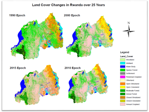 Land Use Map Land Use Land Cover and Change Mapping Service